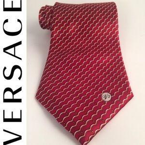 Versace Wave Monogram Silk Tie